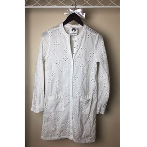 Tops - Patrick Robinson White Eyelet Button Up